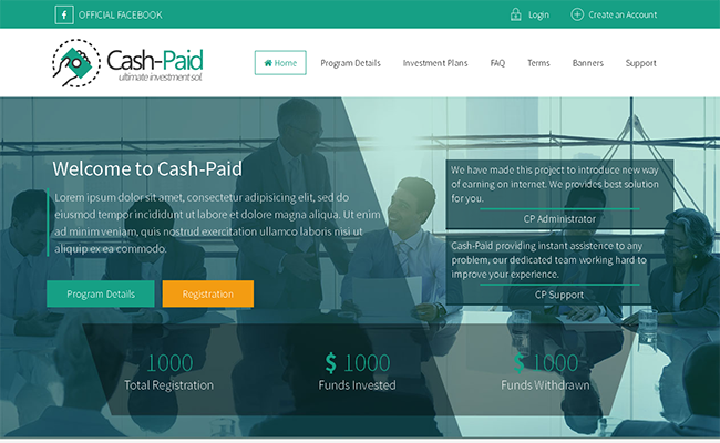 CashPaid GoldCoders Template