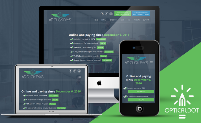AdClickPays Responsive Template